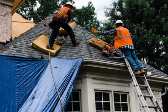 how to repair a damaged roof
